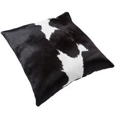Black & White Asari Cow Hide Cushion