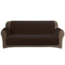 Custom Fit Coffee 2 Seater Sofa Cover Protector
