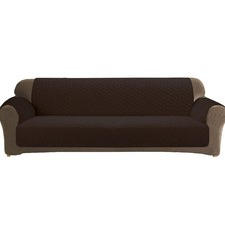 Custom Fit Coffee 3 Seater Sofa Cover Protector