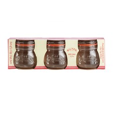 Set of 3 Clip Top Jars 500ml