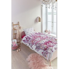 Fairy Palace Pink Cotton Single Quilt Cover Set