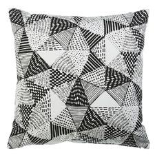 Ebro Black Square Cushion