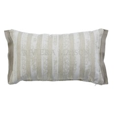 Sturdy Stripe Sand Rectangular Cushion