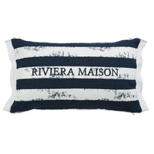 Brave Stripe Dark Blue Rectangular Cushion
