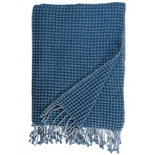 Blue Roy Cotton Waffle Throw