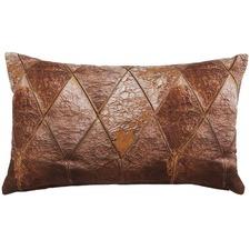 Raw Brown Printed Cotton Cushion
