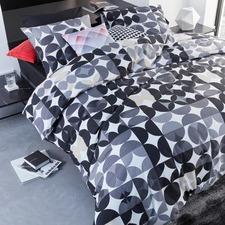 Black Alster Cotton Quilt Cover Set