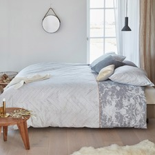 Grey Faye Cotton Quilt Cover Set