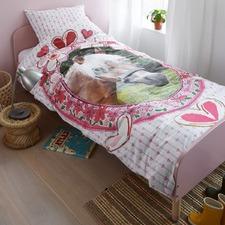 Pink Kids Favourites Single Cotton Quilt Cover Set