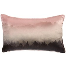 Pastel Misty Forest Satin Cushion
