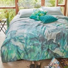Green Palmera Cotton Sateen Quilt Cover Set