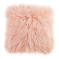 Soft Pink Raccoon Cushion