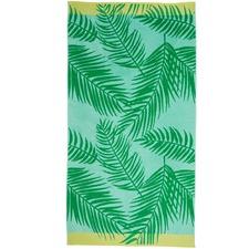 Green Surfing Beach Towel