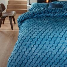 Blue Layered Tones Cotton Quilt Cover Set