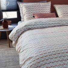 Pink Woven Lines Cotton Quilt Cover Set