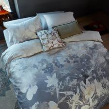 Grey Misty Floral Cotton Sateen Quilt Cover Set
