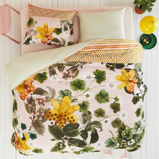 Green Oilily Botanical Cotton Sateen Quilt Cover Set