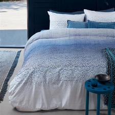 Blue Graphic Disorder Cotton Quilt Cover Set