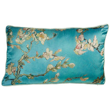 Blue Van Gogh Blossom Cushion