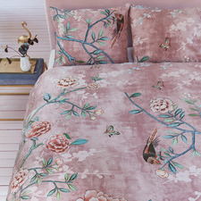 Pink Armelle Cotton Quilt Cover Set