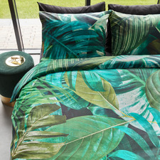 Green Botany Cotton Quilt Cover Set