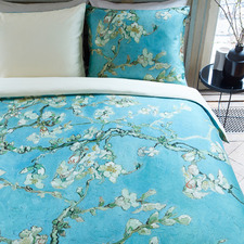 Blue Almond Blossom Van Gogh Cotton Sateen Quilt Cover Set