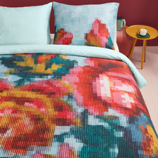 Floral Mosaic Cotton Quilt Cover Set