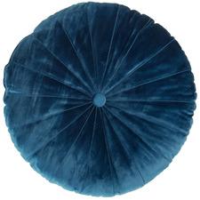 Mandarin Round Velvet Cushion