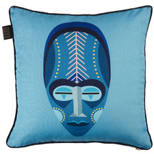 Blue Mask Reversible Cotton Cushion