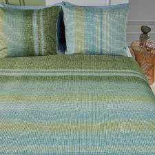 Green Tabby Cotton Sateen Quilt Cover Set