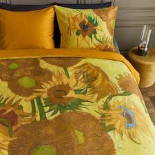 Yellow Tourmesol Van Gogh Cotton Sateen Quilt Cover Set