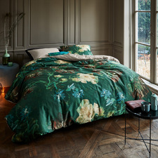 Green Peonies Van Gogh Cotton Sateen Quilt Cover Set