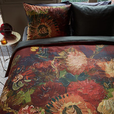 Red Gladioli Van Gogh Cotton Sateen Quilt Cover Set