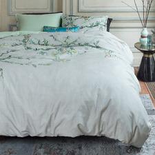 Grey Blossom Van Gogh Cotton Sateen Quilt Cover Set