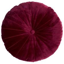 Mandarin Velvet Round Cushion