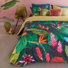 Green Tropical Treasure Cotton Quilt Cover Set
