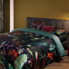 Dark Green Dusk to Dawn Cotton Sateen Quilt Cover Set