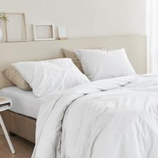 White Basic Organic Cotton Quilt Cover Set