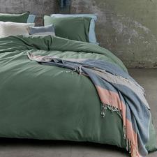 Green Basic Organic Cotton Quilt Cover Set