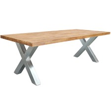 Kemi Galvanized Outdoor Dining Table