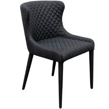 Charcoal Modena Quilted Dining Chair