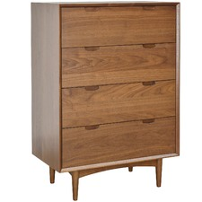 Walnut Vien 4 Drawer Chest