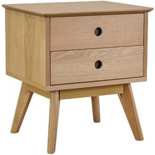 Celestina Scandi Oak Wood Side Table