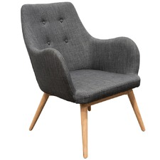 Graphite Grey Delo Ash Wood Lounge Chair
