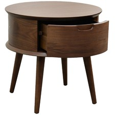 Garga Oak Wood Side Table