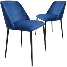 Blue Korey Velvet Dining Chairs (Set of 2)