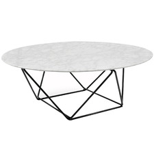 White Bryce Marble Coffee Table