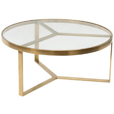 Brushed Gold Tierney Round Coffee Table