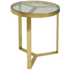Brushed Gold Landon Side Table