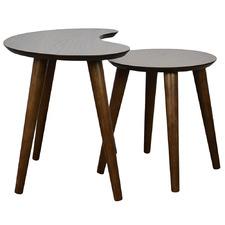 2 Piece Kaydan Nesting Tables Set